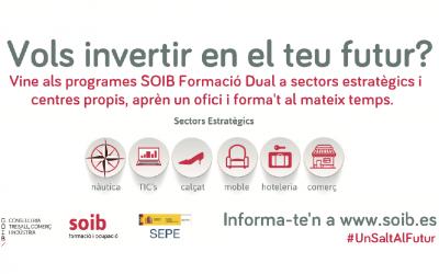 Programas SOIB FORMACIÓN DUAL sectores estratégicos y centros propios