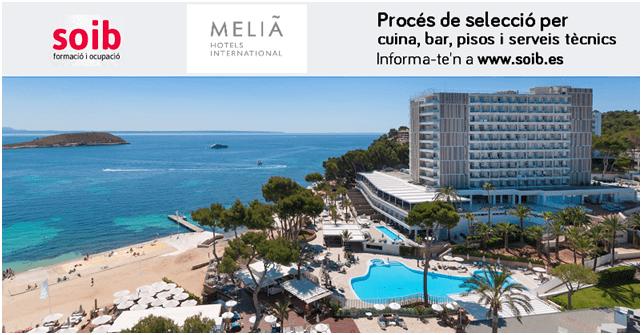 El SOIB selecciona personal per a Meliá Hotels International