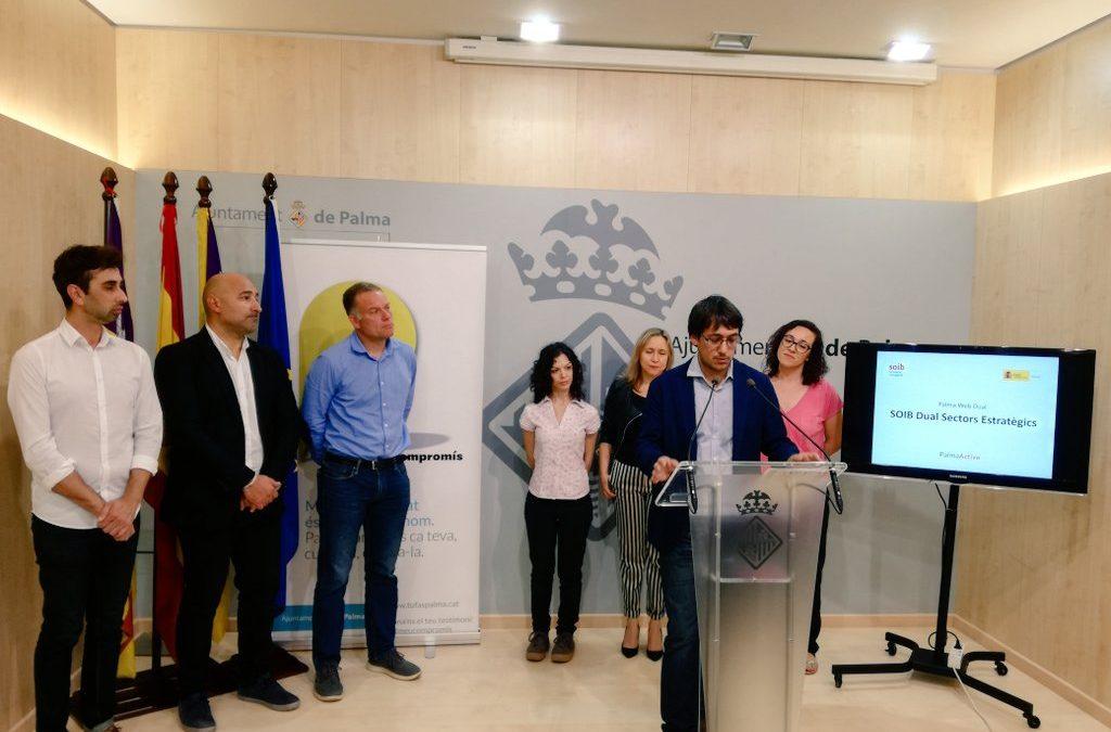 El conseller Negueruela presenta el programa de formació i ocupació Palma Web Dual que desenvolupa per primera vegada PalmaActiva