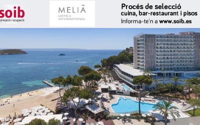 Nuevo proceso de selección del SOIB para Meliá Hotels International en Mallorca
