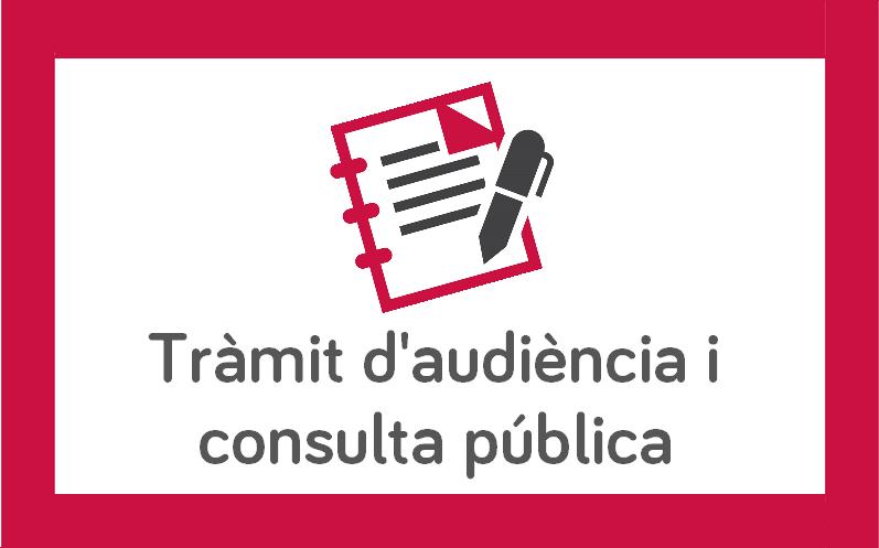 Tràmit d'audiència i consulta pública en relació al projecte de decret pel qual es crea i regula el Registre Públic de persones formadores per impartir accions formatives conduents a la obtenció de certificats de professionalitat