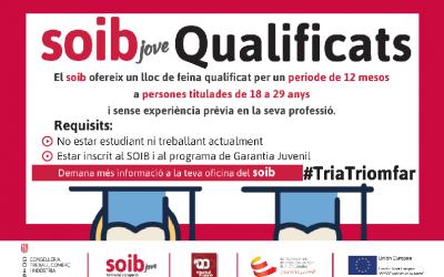 SOIB Jove Qualificats Entitats Locals. Apunta't fins al 14 de setembre!