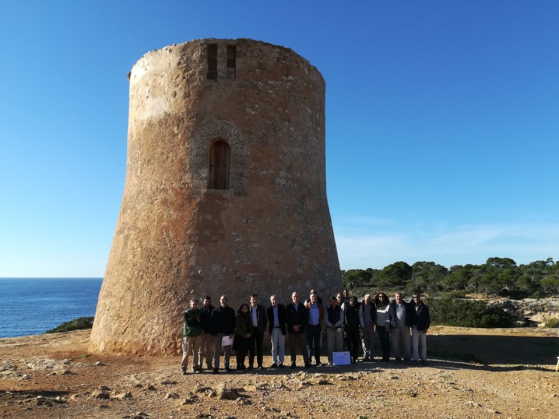 Finalitza la restauració de la torre de Cala Pi de Llucmajor en què han intervingut  treballadors del programa SOIB Visibles