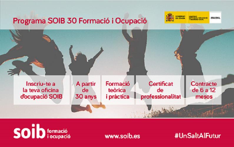 Seleccions programa SOIB 30 Formació i Ocupació