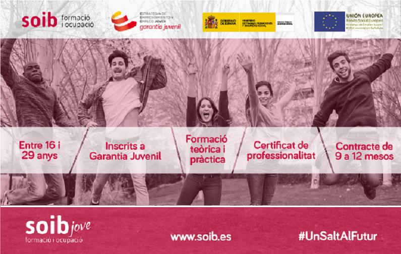 Selección personal docente programa SOIB Jove Formación y Ocupación