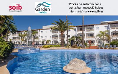 Garden Hotels selecciona personal per a la temporada d'estiu a CALA RAJADA, CALA MILLOR, PLATGES DE MURO i CALES DE MALLORCA