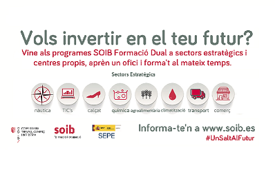 Programa SOIB Formación Dual. ¡Consulta las ofertas de DOCENTES, e inscríbete!