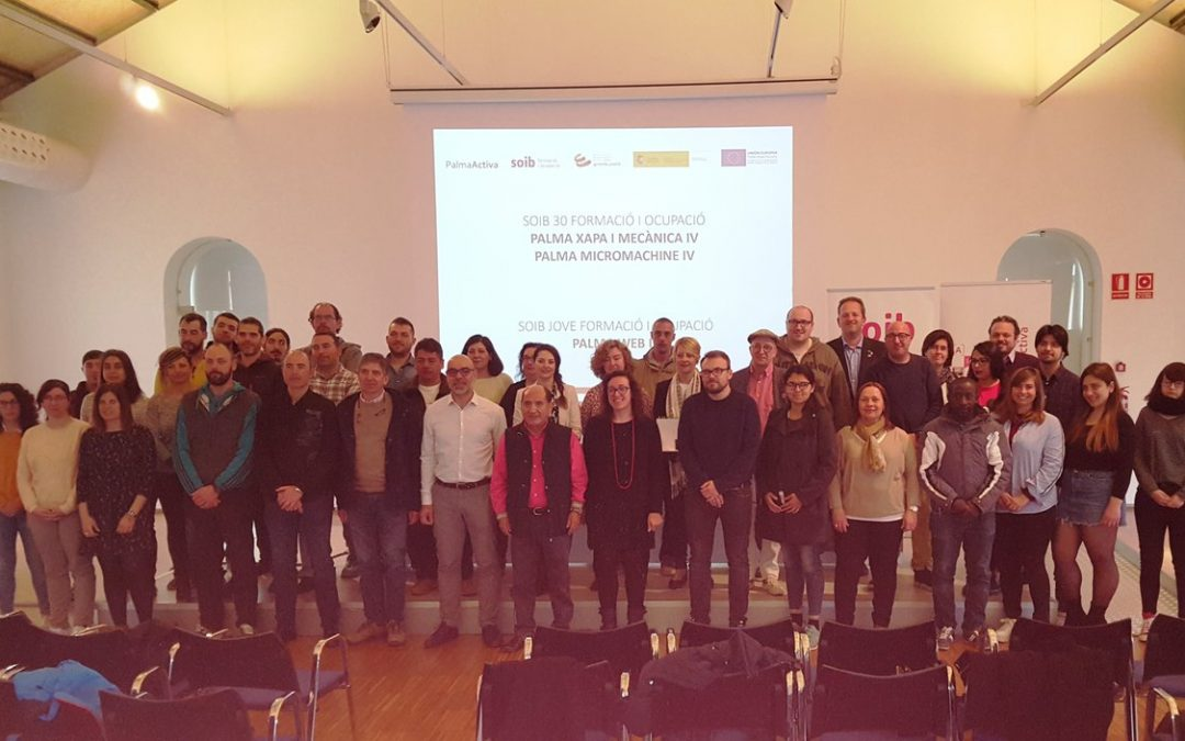 30 persones treballaran durant 12 mesos a l'Ajuntament de Palma gràcies als programes de Formació i Ocupació del SOIB