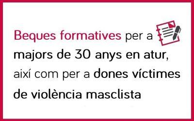 Beques formatives per a majors de 30 anys en atur, així com a dones víctimes de violència masclista, que cursin accions de formació professional per a l'ocupació finançades pel SOIB