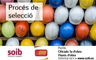 DARA VALCANAR, S.L. selecciona personal de la construcció per a incorporar a la seva plantilla el 26/08.