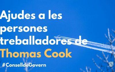 Consell de Govern: aprovada una línia d'ajuts per al personal afectat per la fallida de Thomas Cook