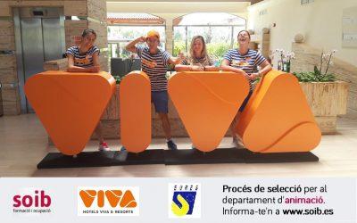 Seleccionam 15 llocs de feina per al departament d'animació a Hotels VIVA a Alcúdia i Capdepera