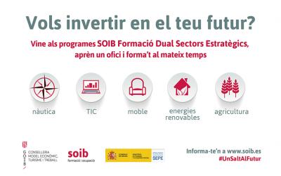PROGRAMA SOIB FORMACIÓ DUAL Sectors Estratègics 2020-2021. Informació i ofertes docents i alumnat