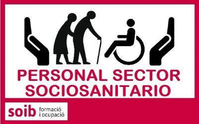 Cubiertas provisionalmente las solicitudes de personal sanitario, sociosanitario y otros perfiles para residencias, centros de día y otros centros del sector sociosanitario