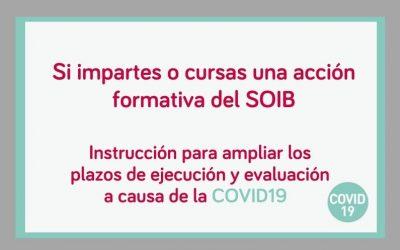 El SOIB aprueba medidas para garantizar las acciones formativas de manera no presencial