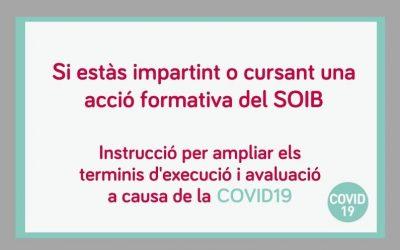 El SOIB aprova un seguit de mesures per garantir les accions formatives de manera no presencial