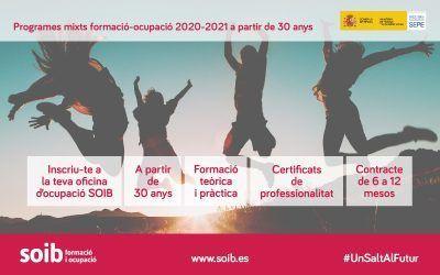 Programes mixts de formació-ocupació 2020-2021 a partir de 30 anys