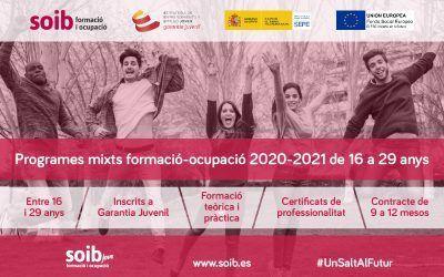 Programas mixtos de formación-ocupación 2020-2021 de 16 a 29 años