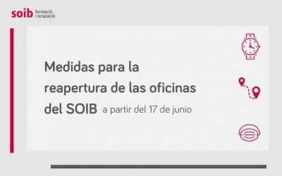 El SOIB reabre las oficinas el próximo miércoles aunque prioriza la atención telefónica y la tramitación telemática