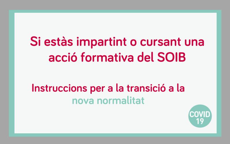 Instruccions per a la transició cap una Nova Normalitat de la impartició de les accions formatives