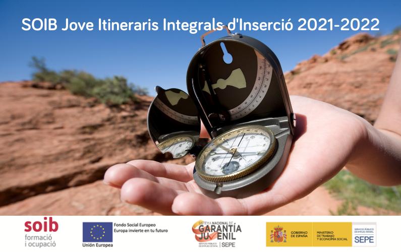 Publicada la convocatòria de subvencions SOIB Jove Itineraris Integrals d'Inserció per als exercicis 2021-2022