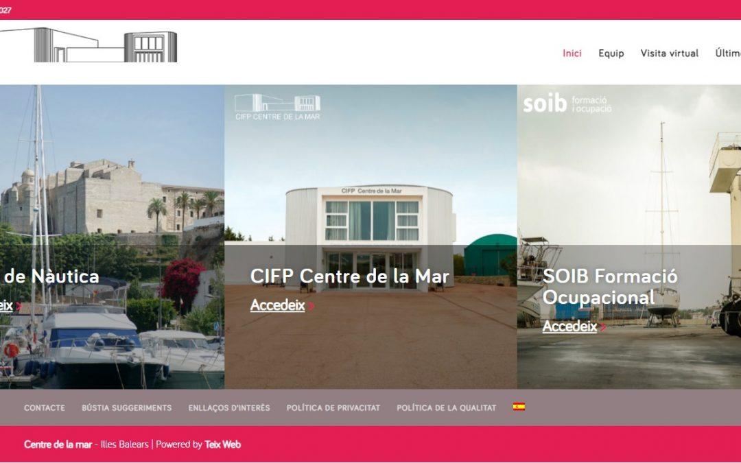 El Centre de la Mar de Menorca llança nou web per impulsar la formació de l'àrea nàutica a Balears