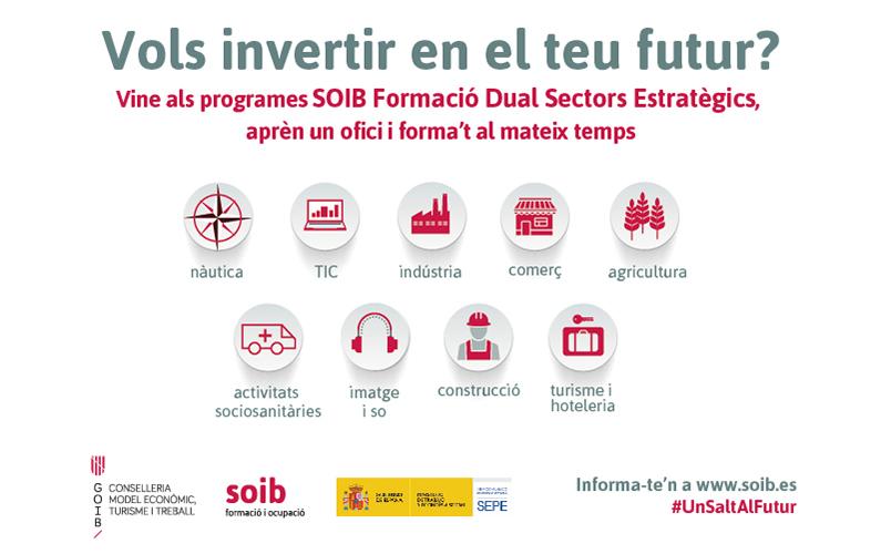 Programa SOIB Formació Dual Sectors Estratègics 2021-2022. Informació i ofertes docents i alumnat