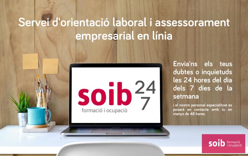 Programa pilot d'orientació laboral i assessorament empresarial SOIB 24·7