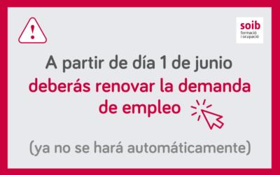 Toda la información sobre cómo renovar («sellar») la demanda de empleo a partir de día 1 de junio de 2021