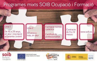 Informació i ofertes per a alumnat-treballador per als programes mixts SOIB Ocupació i Formació