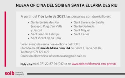 La nueva oficina del SOIB en Santa Eulària des Riu amplía la red de atención en Ibiza y acerca la cartera de servicios a la ciudadanía
