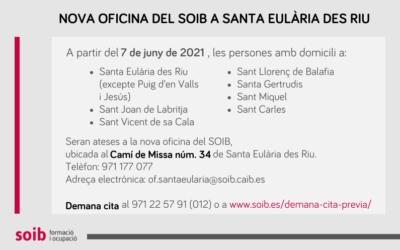 La nova oficina del SOIB a Santa Eulària des Riu amplia la xarxa d'atenció a Eivissa i apropa la cartera de serveis a la ciutadania