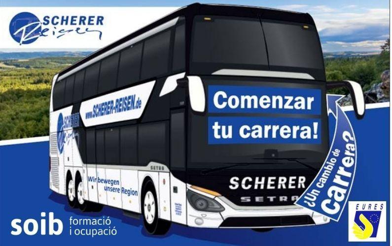 L'empresa Scherer Reisen selecciona conductors/conductores d'autobús per treballar a Alemanya