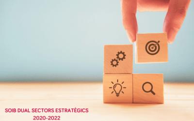 Ampliada en 1,5 milions d'euros la dotació del programa Soib Dual Sectors Estratègics per al període 2020-2022