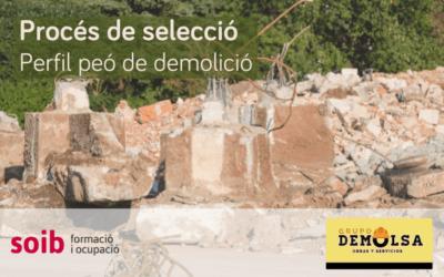 Procés de selecció de trenta peons de demolició per a DEMOLSA Obras y Contratas, SL, a Santanyí